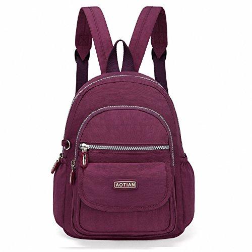 AOTIAN Mini Rucksack Für Mädchen Und Damen Leichtgewicht Kleine Lässiger Daypacks Tasche 7 Liter Violett