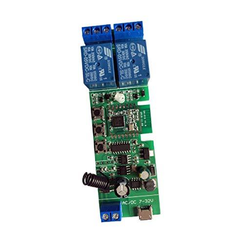 MHCOZY Interruptor de contacto seco ZigBee de 2 canales,interruptor de relé de 12V,funciona con el hub de puerta de enlace tuya zigbee, Alexa y Google Home