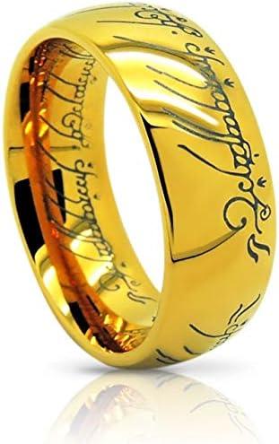 Atomic Jewelry ElvishThe One Tungsten Ring 18k Gold Plating 10 5 product image