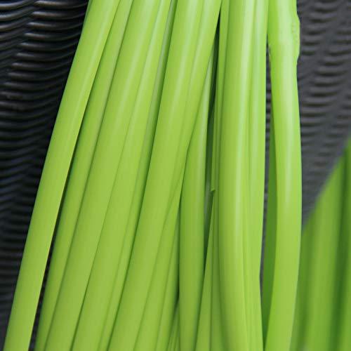 Feyart - Cesta de mimbre de color sólido de ratán de plástico sintético para reparar tejidos, muebles de jardín, verde