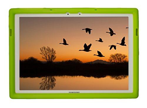 Bobj Rugged Case for Samsung Galaxy TabPro S 12 (SM-W700) - BobjGear Custom Fit - Patented Venting - Sound Amplification - BobjBounces Kid Friendly (Gotcha Green)