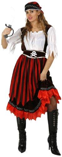 Atosa - 95549 - Costume - Déguisement De Pirate Rayures Femme Adulte - Taille 2
