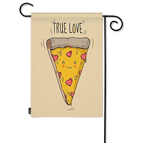 Moslion Pizza Garden Flag Cute Smile Face Pizza Triangle...