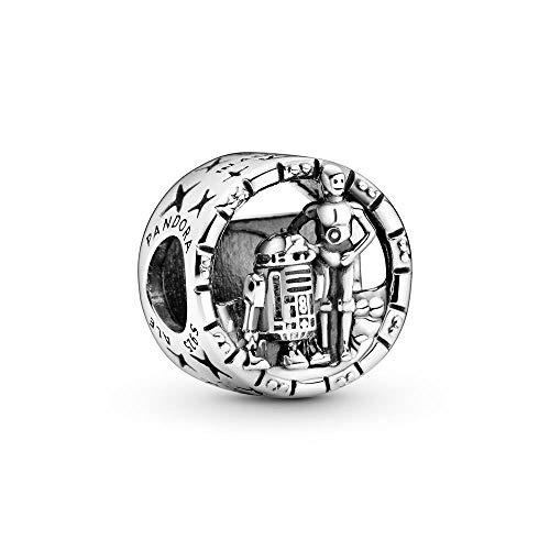 Pandora Star Wars - Colgante abierto de plata de ley C-3PO y R2-D2