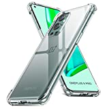 QITAYO Crystal Clear Case Compatible with OnePlus 9 Pro, Reinforced Corner Shockproof Bumper Soft TPU Anti-Yellow Anti-Scratch Back Case Cover for OnePlus 9 Pro 5G