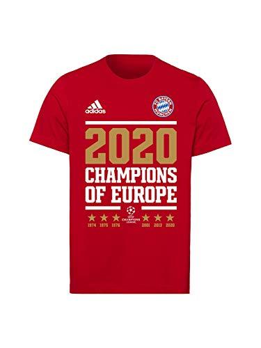 FC Bayern München T-Shirt Champions of Europe 2020 rot, M
