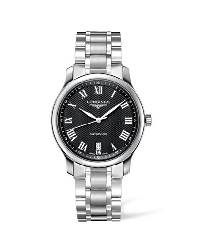 Longines orologio The Longines Master Collection 38,5mm Nero Acciaio uomo automatico L2.628.4.51.6