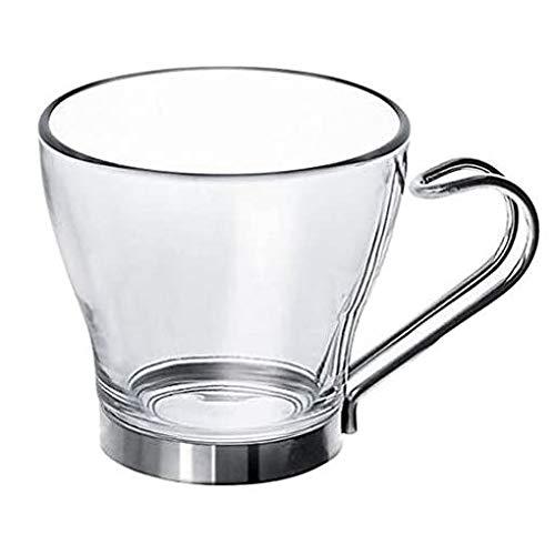 Taza de café vasos con mango de acero inoxidable 10 cl (3 ½ angelsharkseries)