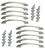 aerzetix c41663-10 maniglie per cassetto, armadio, armadio, colore: argento satinato, 96 mm