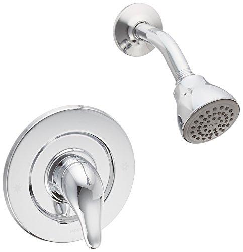 Single Handle Shower Trim Kit with Metal Lever, Chrome - Moen TL473