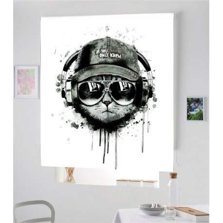 Estor Iroa Digital Juvenil Gato 001 ¡ESTORES ENROLLABLES TRANSLUCIDO O Screen! (150X170, Tejido Translucido)