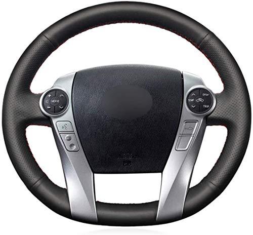 MEWANT Funda de Volante Cubierta de Volante Personalizada Hecha De Cuero Sintético Cuero De Microfibra Coser a Mano para Prius 30 (XW30) Prius+Prius C Prius V Aqua