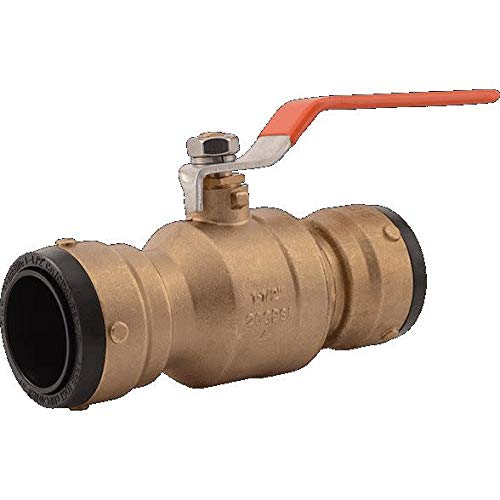 Best Bargain SharkBite UXLBV41 Brass Push Ball Valve, 1 1/2 Inch