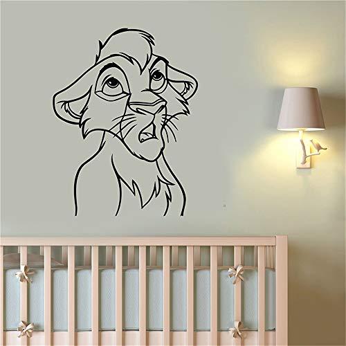 Simba Wall Art Décalque Roi Lion Autocollant Décorations Pour La Maison Enfants Bébé Garçons Filles Chambre Nursery Playroom Cartoon Décor