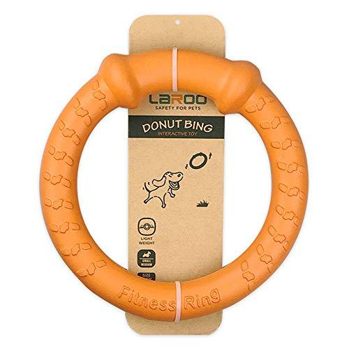 LaRoo Hundefitness-Ring Hundefrisbee, unzerstörbare Float Hunde Flugscheibe Spielzeug, Sommer Pet Training für Mittelgroße und kleine Hunde (Orange-18CM/7in)