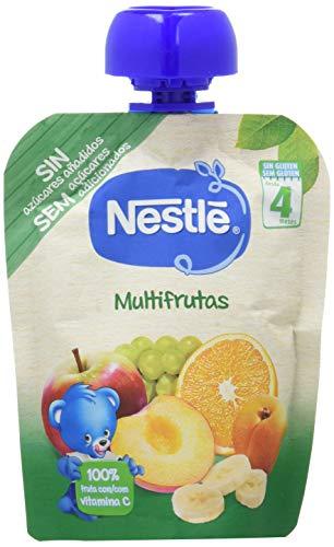 Nestlé Bolsita Puré Multifrutas, A Partir De Los 4 Meses, 90 G - Pack de 16 bolsitas 90g
