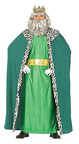 GUIRMA-Costume Re Magio Melchiorre, Color Verde, L (52-54), 41688