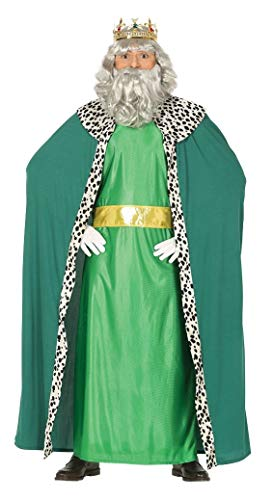 GUIRMA-Costume Re Magio Melchiorre, Color Verde, L (52-54), 41688