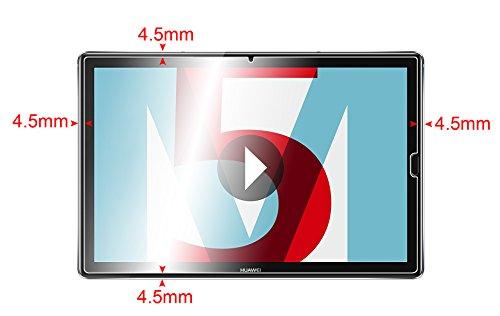 Supremery Bildschirm Glas Folie für Huawei MediaPad M5 (10,8 Zoll) Schutzfolie Panzerglas extra Hart gegen Kratzer und Stürze - Blasenfrei HD Clear (Premium Qualität) - 2