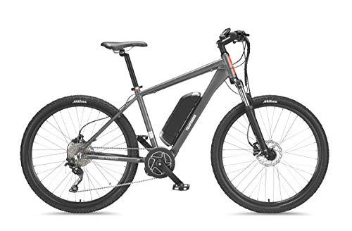 Telefunken E-Bike Mountainbike Elektrofahrrad Alu, grau, 10 Gang Shimano Kettenschaltung - Pedelec MTB leicht, Mittelmotor 250W, Reifengröße: 27,5 Zoll, Aufsteiger M801