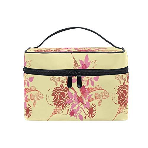 Poisson Fleur Rêve Trousse de Maquillage Femmes Voyage Sac à Cosmétique Cas Trousse de Toilette Bag