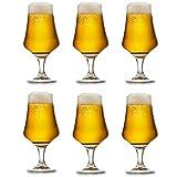 libbey bicchiere da birra arôme - 37 cl / 370 ml - set di 6 pezzi - bicchiere a calice - lavabile in lavastoviglie - alta qualità - bicchiere a tulipano – bicchiere per lager