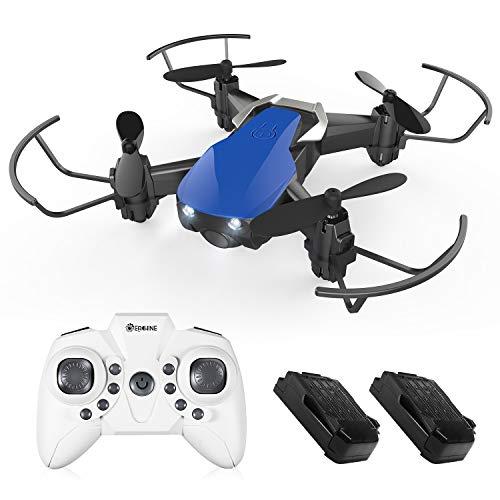 EACHINE E61H Super Mini Drohne für Kinder mit 2 Akku,Auto Höchenhaltung,Kopflos Modus,EIN-Taste zurückkehren,360°Überschlagen,Palmgröße Drohne, RC Quadrocopter,Geschenke geeignet für Anfänger (Blau)