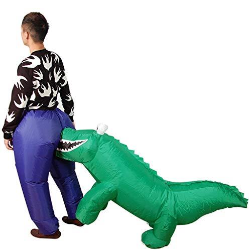 LXLTLB Trajes inflables cocodrilo Mordedura Divertidos Trajes inflables Ropa Animal Pantalones Disfraz Hinchable Adulto 150-190cm