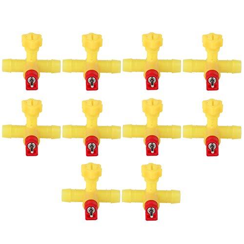 HEEPDD 10 unids Pollo Alimentador Automático de Agua Pezón Dispensador de Bebida Pollo Pato Pájaro Nippler Waterer Sistema de Riego de Aves de Corral para Patos Gallina Pavos Gansos Codornices