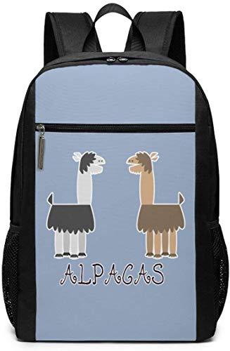 Lawenp Alpaca Lovers Unisex Backpacks 17 Inch School Bookbag Shoulder Bag Casual Daypack Laptop Bag Alpaca Lovers