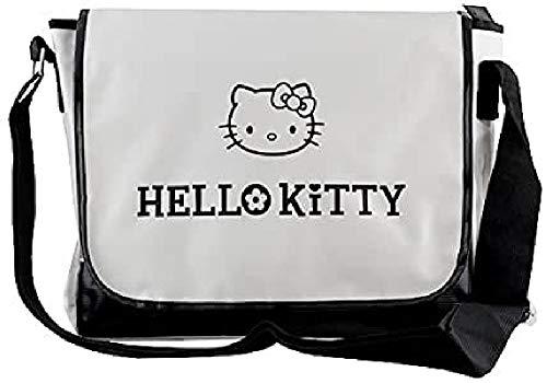 Hello Kitty 11-4943 Messenger Bag, White/Bl