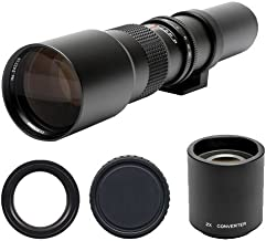 Phoenix 500mm f/8 Telephoto Lens with 2x Teleconverter (=1000mm) Kit for Nikon D40, D60, D3000, D3100, D5000, D5100, D7000, D300s, D3 & D3s Digital SLR Cameras