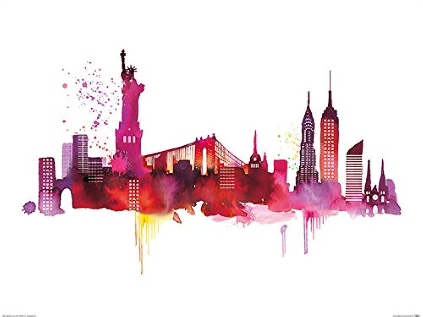 Art Group The Summer Thornton (New York Skyline) Print, Paper, Multi-Colour, 60 x 80 x 1.3 cm