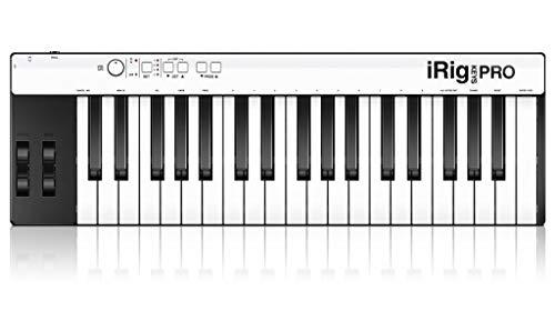 IK Multimedia IPIRIGKEYSPROIN 03-90039 - Teclado MIDI (plástico, conector tipo USB), color blanco