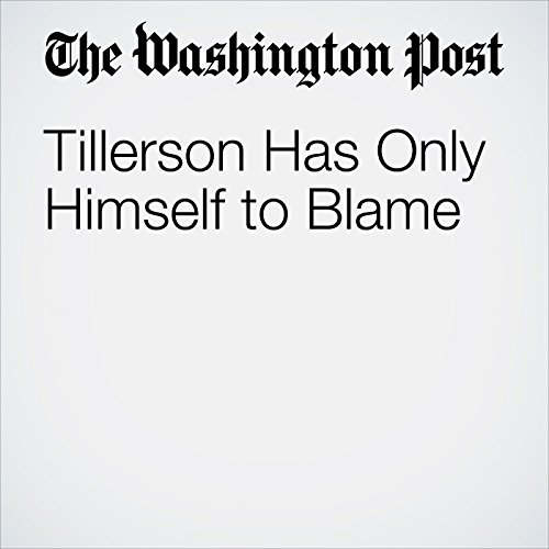 Tillerson Has Only Himself to Blame copertina