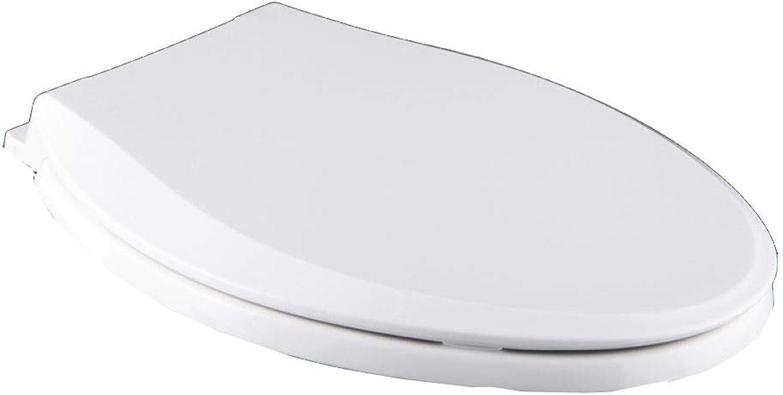 MMKJ White Toilet Seat,Soft Close Hinge Toilet Seat Cover, Quick Release Fast Fix Toilet Seat For Bathroom,Antibacterial,WhitelowerlockO41-43.36.5CM
