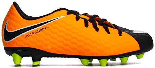Kids' Nike Jr. Hypervenom Phelon III (AG-Pro) Kunstrasen Kinder Fußballschuh ORANGE (38,5)