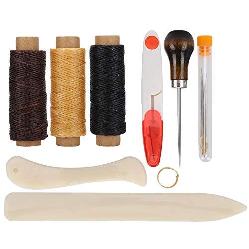 Herramienta para coser cuero para bricolaje, plástico, material de acero, juego de herramientas para coser a mano que hace que el hilo sea fácil de apretar,