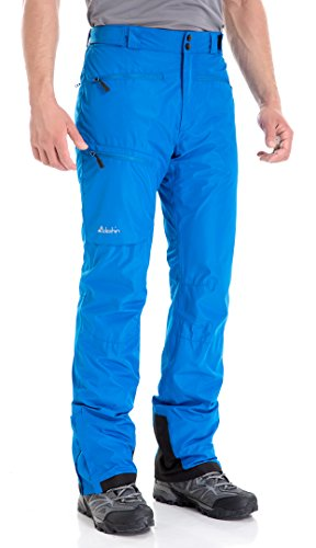 Clothin Men's Insulated Ski Pant Fleece-Lined Waterproof Snow Pants Blue M(Regular Fit)