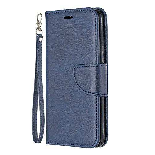Lomogo Galaxy S8 / G950 Hülle Leder, Schutzhülle Brieftasche mit Kartenfach Klappbar Magnetverschluss Stoßfest Kratzfest Handyhülle Case für Samsung Galaxy S8 - LOBFE150209 Blau