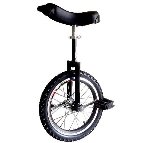 ZSH-dlc Freestyle Einrad 16/18/20/24 Zoll Einzelrad Kinder Erwachsene Höhenverstellbar Laufrads Übung, Bester Geburtstag, Schwarz (Size : 18 inch)