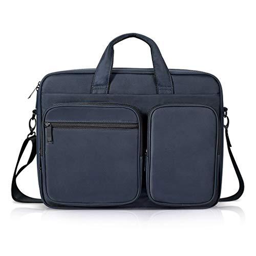 15,4 inch retro canvas aktetas Messenger Bag Business Travel schoudertas Grote laptoptas Multifunctioneel buitenvak voor mannen en vrouwen