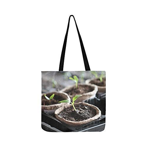 Der Samen wachsen aus dem reichen Boden Canvas Tote Handtasche Schultertasche Crossbody Taschen Geldbörsen für Männer und Frauen Einkaufstasche
