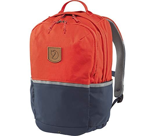 FJÄLLRÄVEN Kinder High Coast Kids Rucksack, Flame Orange-Navy, 38.5 x 24 x 19 cm, 15 L