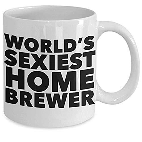 Home Brewer - Taza de desayuno para el hogar, regalo de cerveza casera más sexy del mundo, taza de café divertida para el hogar