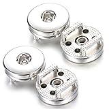 Ginooars 18mm Slide bottoni di Noosa Chunk per bottoni intercambiabili per collane, anelli, ciondoli & braccialetti, confezione da 5