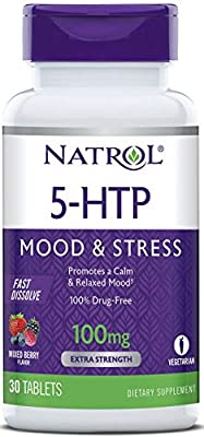 Natrol 5-HTP Time Release tablets, Promotes a Calm Relaxed Mood, Helps Maintain a Positive Outlook, Enables Production of Serotonin, Drug-Free, Controlled Release, Maximum Strength