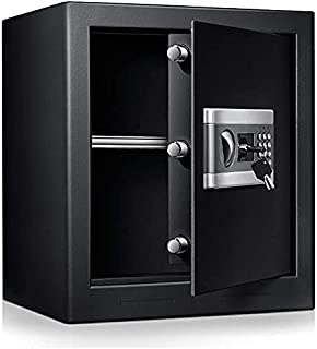 1.53cub Safe Security Box, Fireproof and Waterproof Safe Cabinet, Digital Combination Lock Safe, with Keypad LED Indicato...