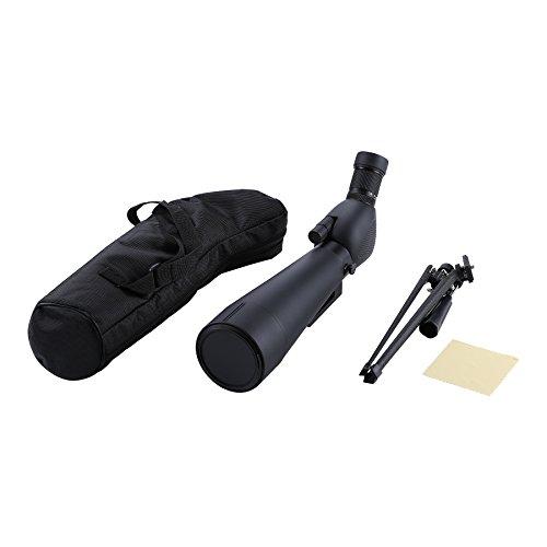 HIRAM 20-60x80 Prism Spotting Scope, Waterproof Scope for Bird Watching Target Shooting Archery Range Outdoor Activities