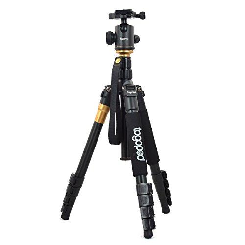 STATIV togopod - Kamerastativ Julia mit Einbein aus Aluminium inklusiv 360° Kugelkopf + Tasche + Schnellwechselplatte 2in1 Stativ, Packmaß: 36cm, Höhe: 158cm und Gewicht: 1,57 kg